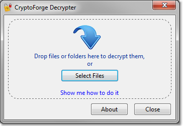 CryptoForge Decrypter Screen shot