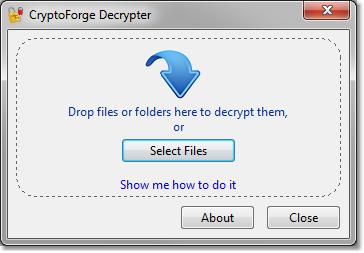 CryptoForge Decrypter